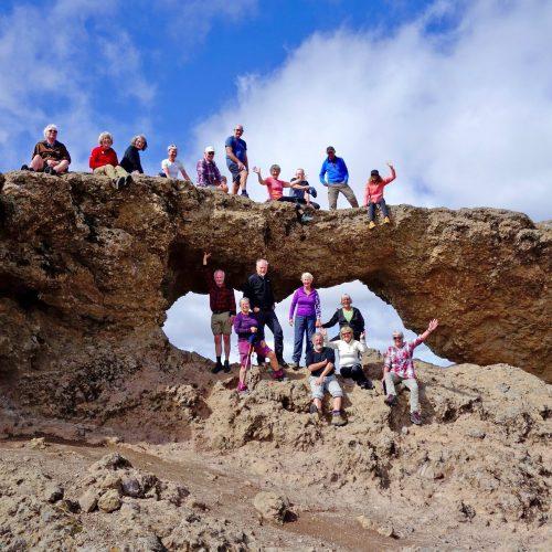 Fellesbilde av gruppe på Cran Canaria i Spania