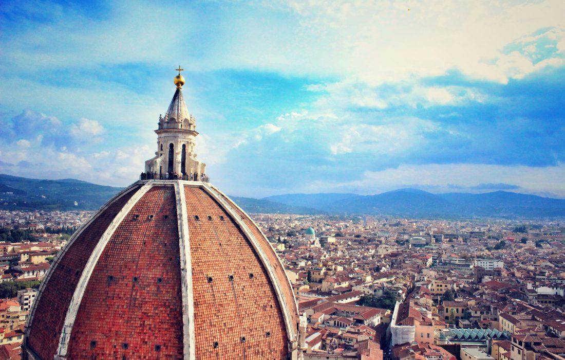 Flyfoto av Firence i Italia