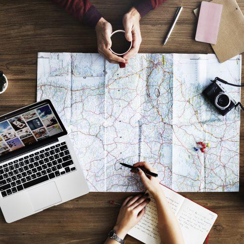 Kart og planlegging for en sikker reise