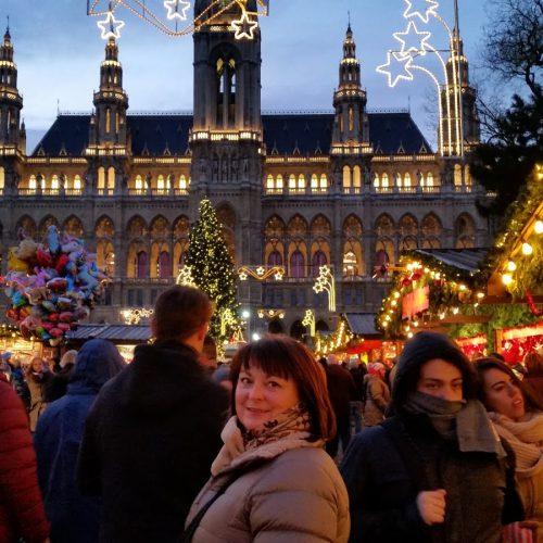 Tone Mjøberg på julemarked i Wien