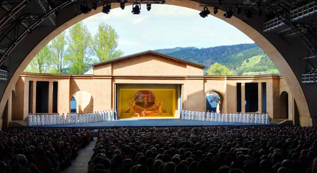 En scene fra pasjonspillet i Oberammergau.