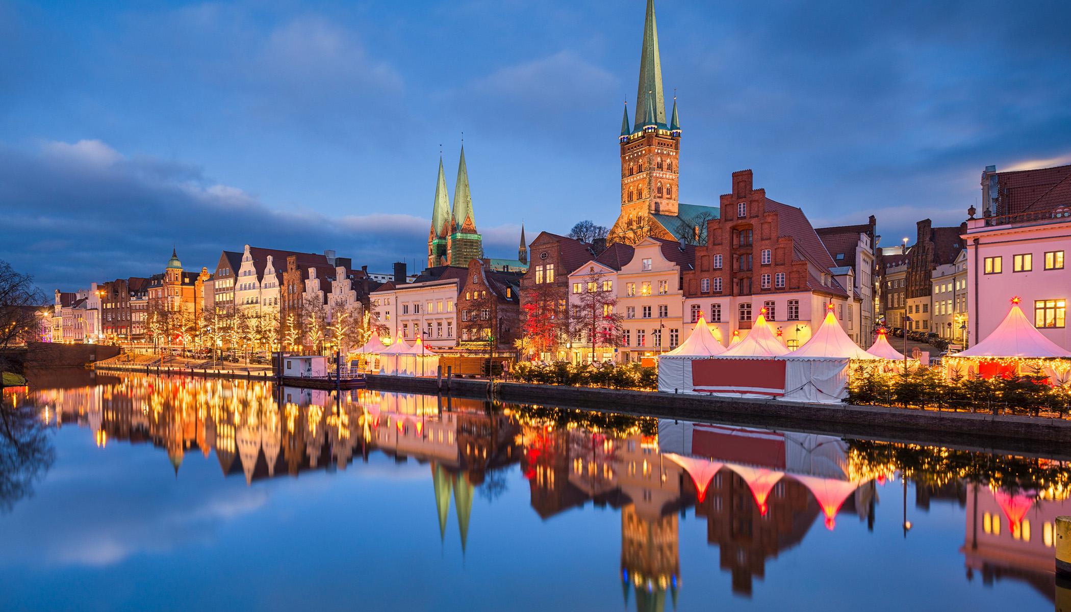 Julemarkedet i Lübeck er virkelig stemningsfullt.
