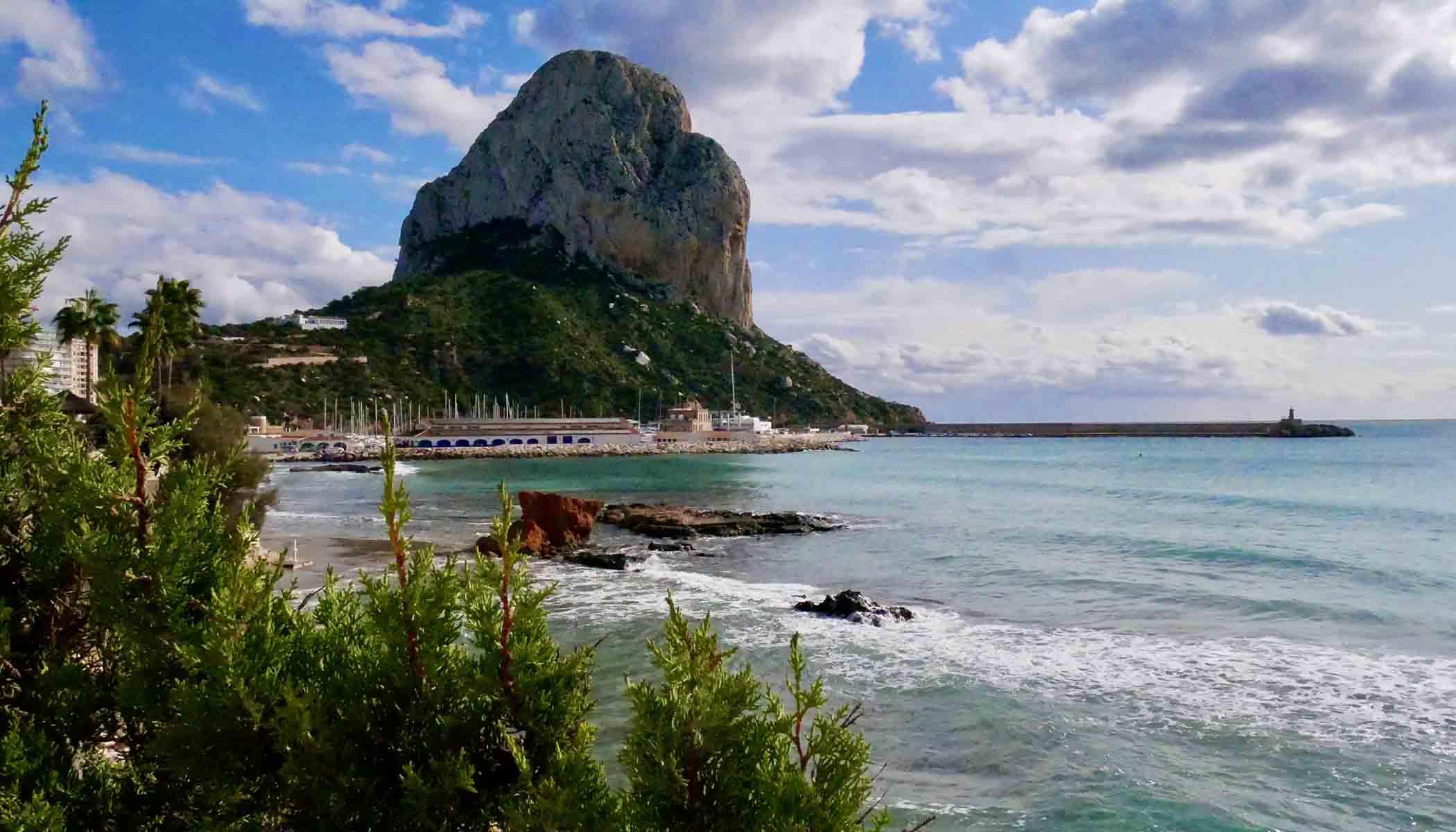 Calpeklippen som landemerke er viden kjent på Costa Blanca.
